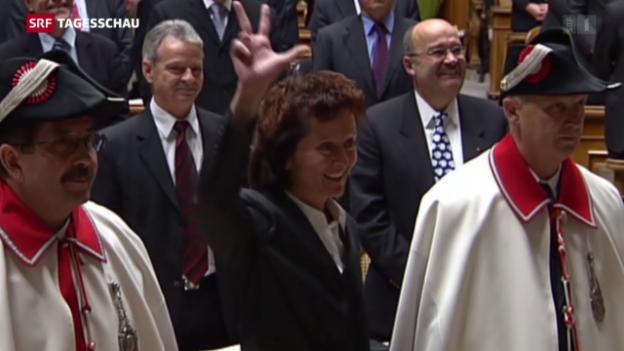 Video «Die Bundesratslaufbahn von Eveline Widmer-Schlumpf» abspielen