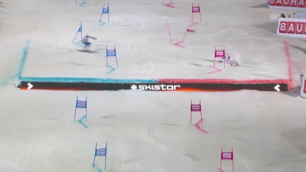 Video «Shiffrin und Strasser als Sieger beim City-Event in Stockholm» abspielen