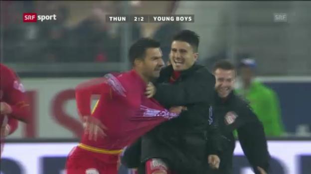 Video «Fussball: Zusammenfassung Thun - YB («sportaktuell»)» abspielen