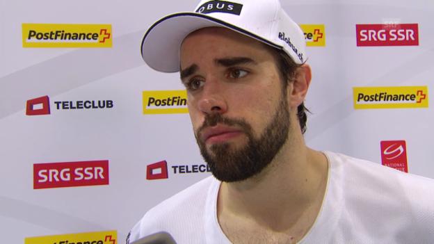 Video «Eishockey: NLA, Bern - Lausanne, Interview mit Etienne Froideveaux» abspielen