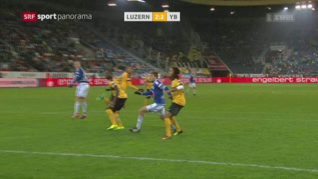 Video «FC Luzern mit einem Last-Minute-Punkt gegen YB» abspielen