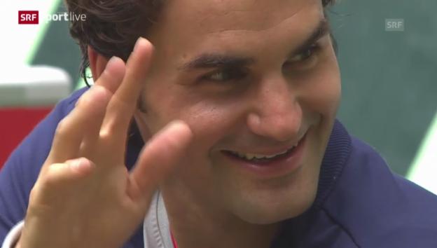 Video «Tennis: ATP Halle, Final Federer - Falla» abspielen