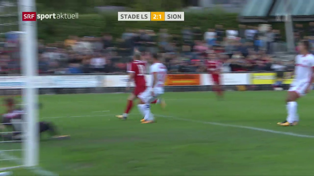 Fussball: Cup, Lausanne-Ouchy - Sion