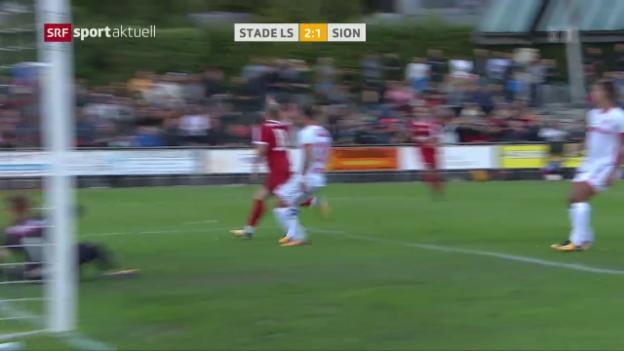 Video «Fussball: Cup, Lausanne-Ouchy - Sion» abspielen