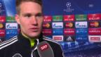 Video «Fussball: Champions-League-Achtelfinal, Basel-Porto, Interview mit Tomas Vaclik (englisch)» abspielen