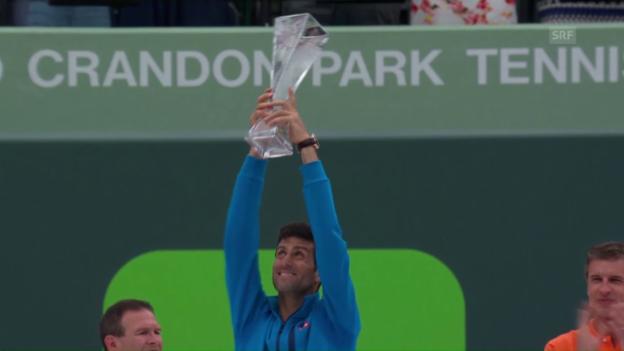 Video «Djokovic siegt auch in Miami» abspielen