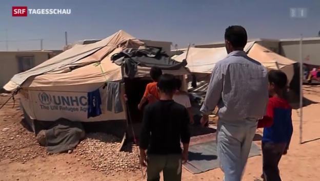 Video «Reportage aus dem Flüchtlingslager Zaatari» abspielen