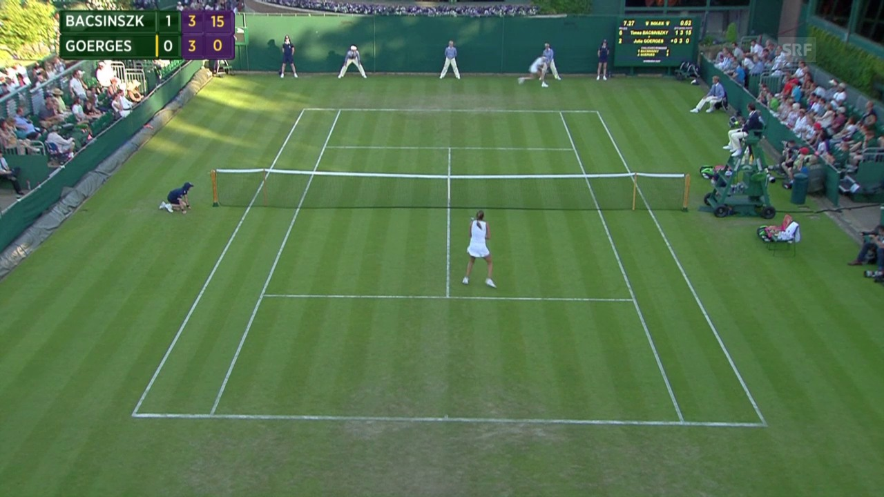 Tennis: Wimbledon, Lob Bacsinszky