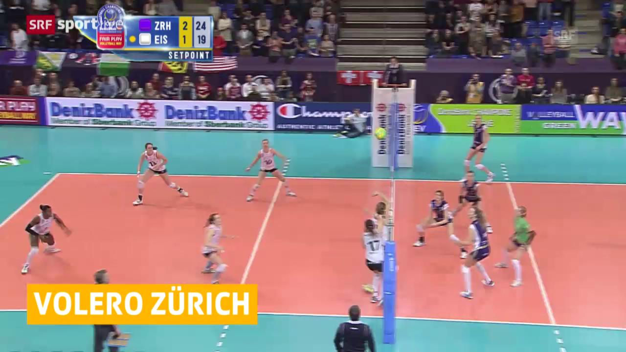 Volleyball: CL-Viertelfinal, Rückspiel Volero Zürich - Eczacibasi Istanbul