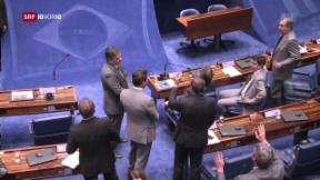 Video «Dilma Rousseff vor dem Amtsaushebungsverfahren» abspielen