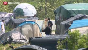 Video «Zeltstadt am Hafen von Calais» abspielen