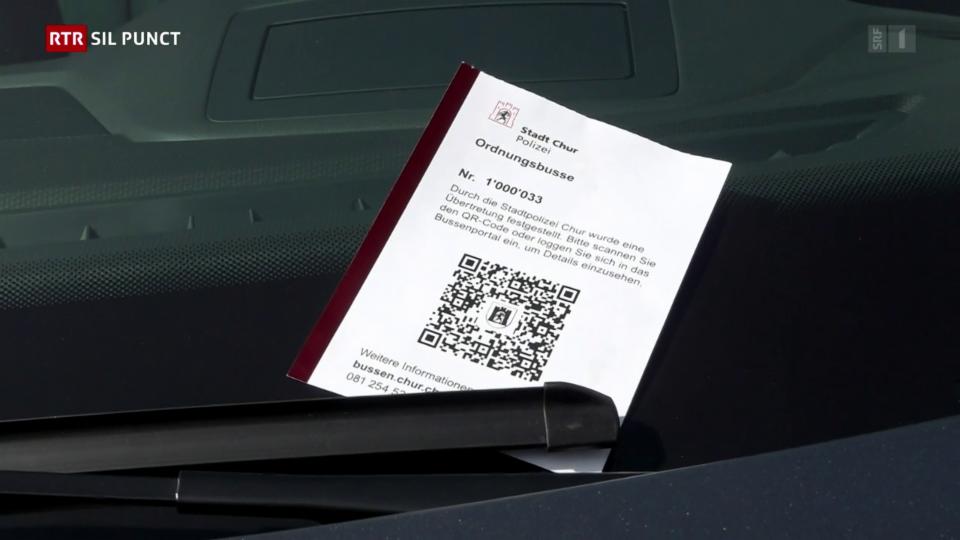 Chastis digitals en il GR: Scannar il QR-code e pajar la multa online
