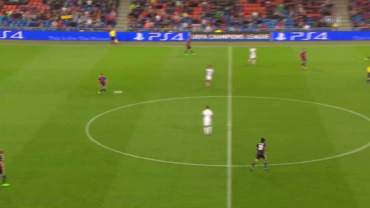 Fussball: CL-Playoff, Basel-Maccabi, Tor zum 1:1