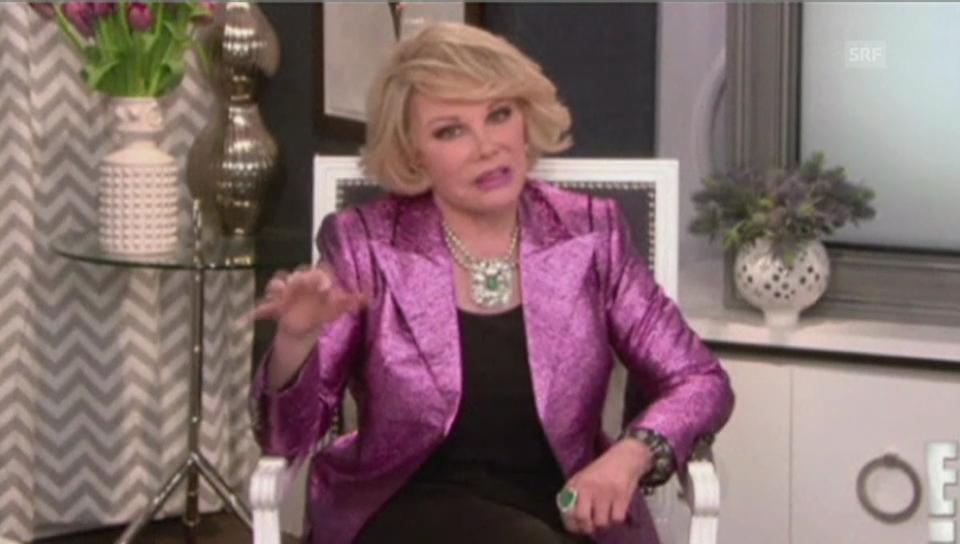 Joan Rivers als Modekritikerin in «Fashion Police» (unkomm.)