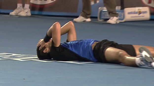 Video «Tennis: Australian Open, Final 2008 Djokovic - Tsonga («sportpanorama»)» abspielen