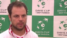 Video «Tennis: Davis Cup, Schweiz - Holland, Interview Lüthi» abspielen