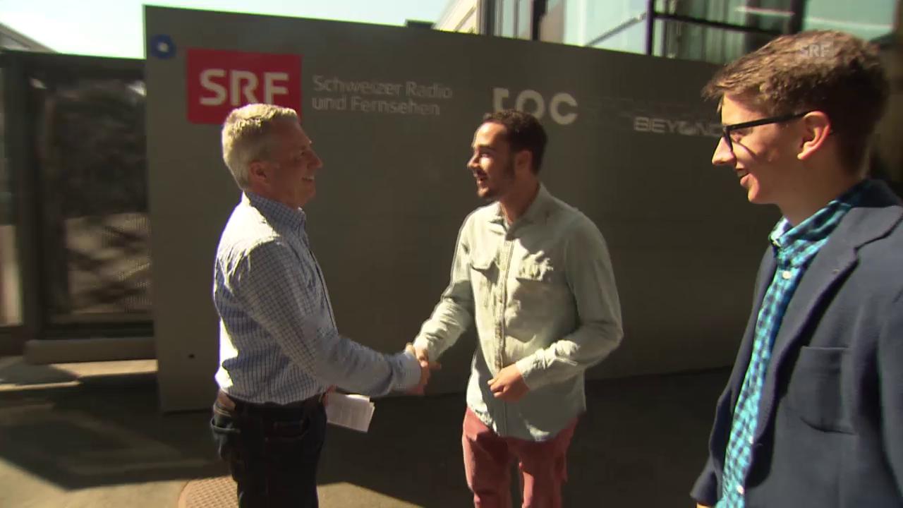 Fit für die CEOs am SEF: Noah Zygmont und Pascal Scheiber im Coaching mit Reto Lipp