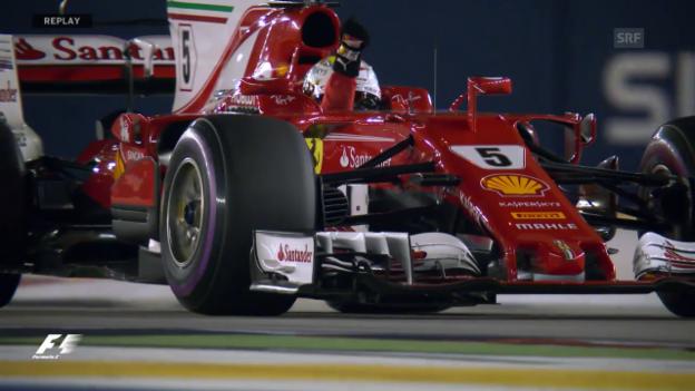 Video «Vettel in Singapur am schnellsten» abspielen