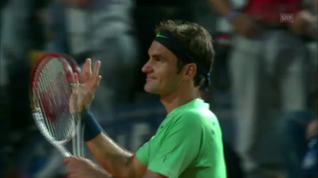 Video «Tennis: ATP 1000 Rom, Federer-Starace» abspielen