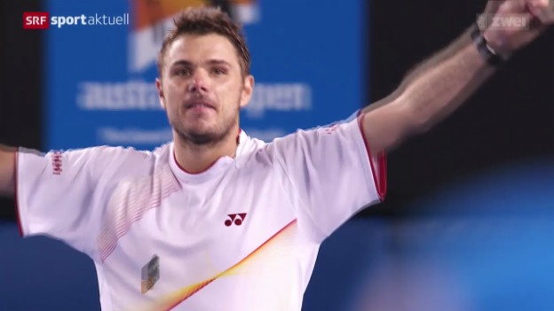 Video «Tennis: Australian Open, Viertelfinal, Wawrinka - Djokovic» abspielen