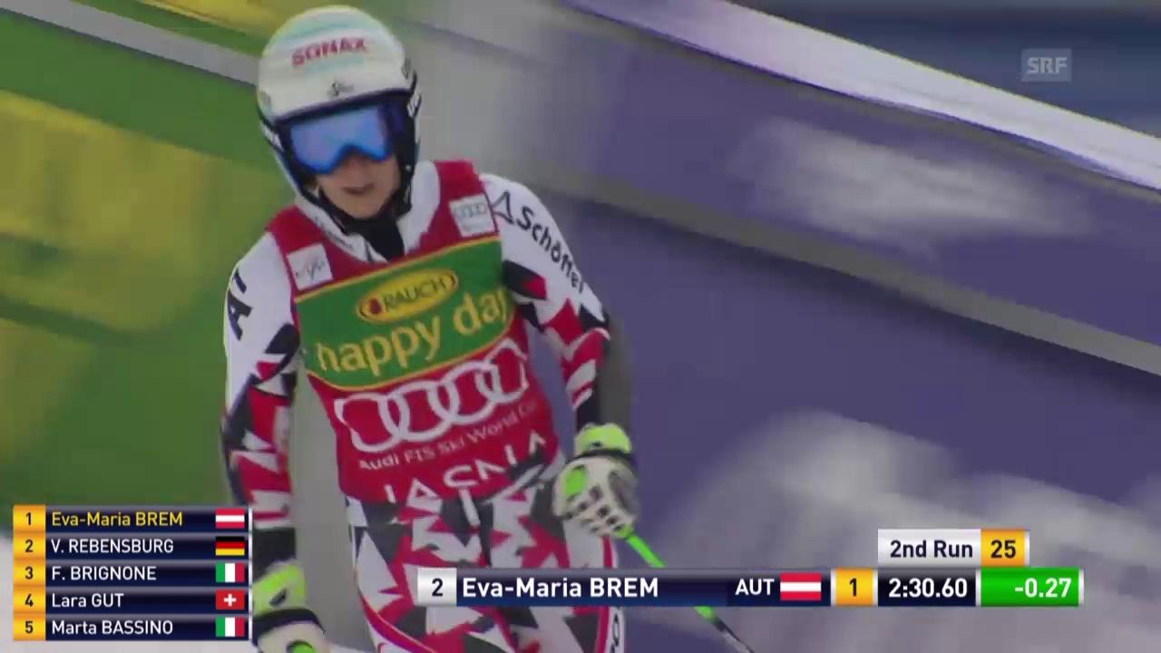 Eva-Maria Brem gewinnt den Riesenslalom in Jasna