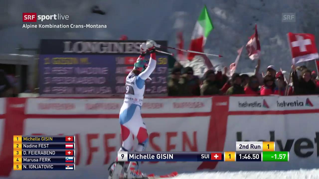 Der Slalom-Lauf von Michelle Gisin