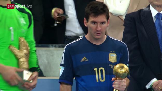 Video «Auszeichnung Lionel Messi» abspielen