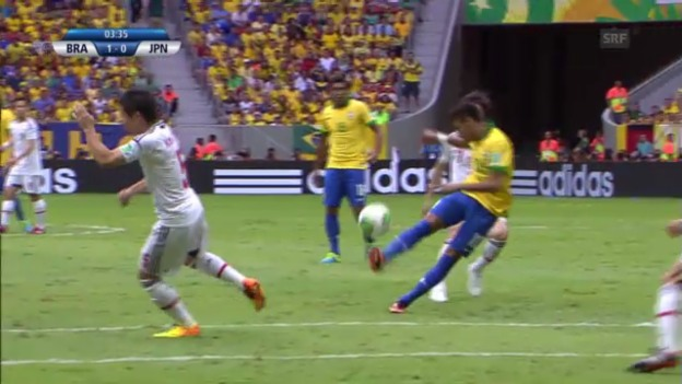 Video «Confed Cup: Highlights Brasilien - Japan («sportlive»)» abspielen