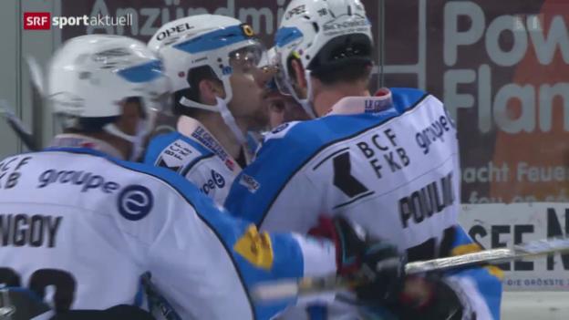 Video «Eishockey: NLA, Rapperswil-Jona Lakers - Freiburg» abspielen