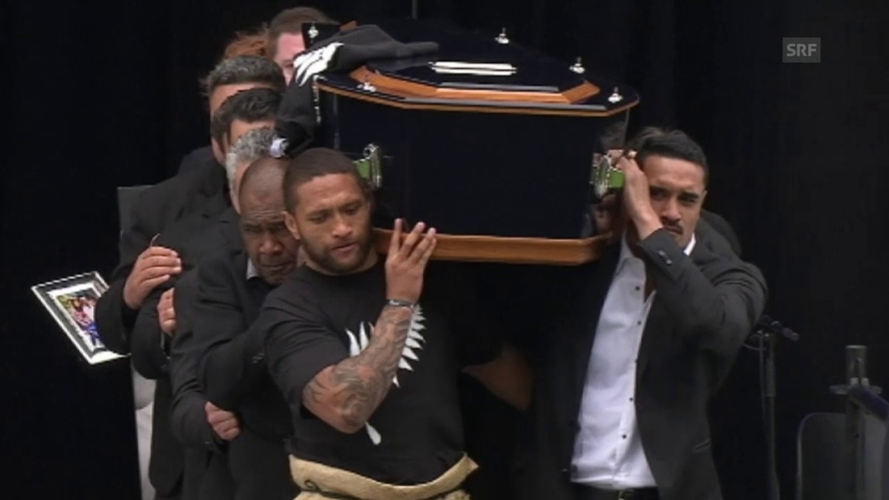 Rugby: Trauerfeier für Neuseelands Rugby-Legende Jonah Lomu