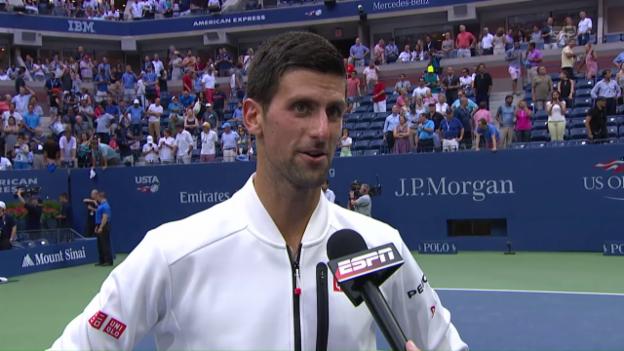 Video «Djokovic nach dem Finaleinzug» abspielen