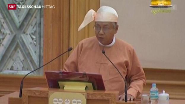 Video «Htin Kyaw will Burma demokratisieren» abspielen
