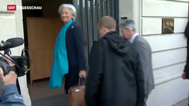 Video «Richter vernehmen IWF-Chefin zur Finanzaffäre» abspielen