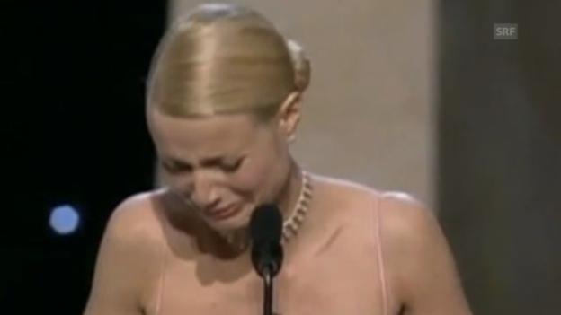Video «Gwyneth Paltrow schluchzt bei Oscar-Rede (1998)» abspielen