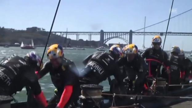 Video «Segeln: Team New Zealand kurz vor Gesamtsieg» abspielen