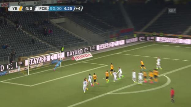 Video «Fussball: Super League, 9. Runde, YB - Basel, Mvogos Paraden» abspielen