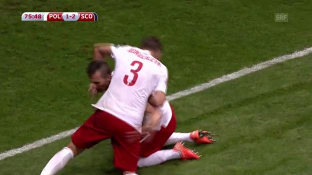 Video «Fussball: Polen-Schottland» abspielen