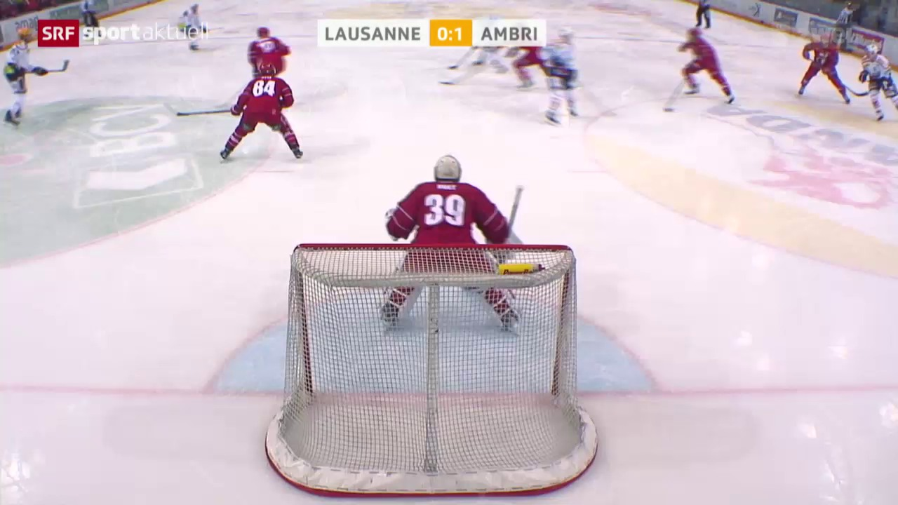 Eishockey: Lausanne - Ambri