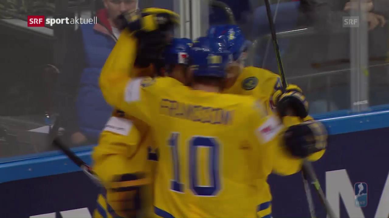 Schweden müht sich zu Overtime-Sieg über Lettland