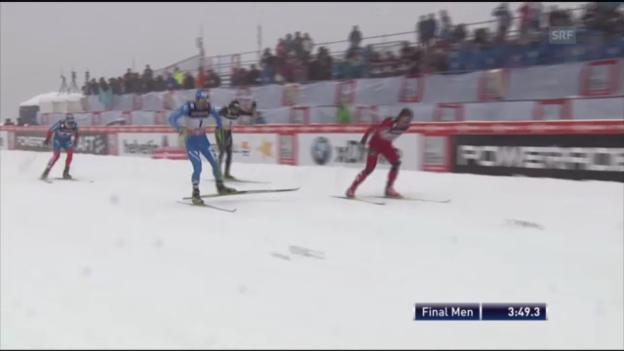 Video «Langlauf: der Finallauf von Sotschi» abspielen
