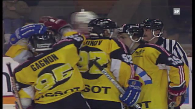 Fribourg-Team Canada am Spengler Cup 1992