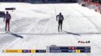 Video «Langlauf: Zieleinlauf von Dario Cologna in Davos» abspielen