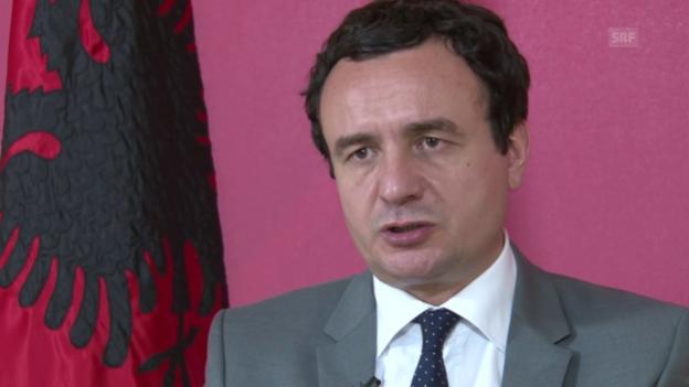 Video «Albin Kurti zum Kosovo-Spezialgericht in Den Haag» abspielen