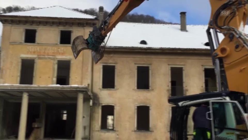 Das Römerbad wird abgerissen