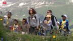 Video «Ferienlager für Flüchtlingskinder im Wallis» abspielen