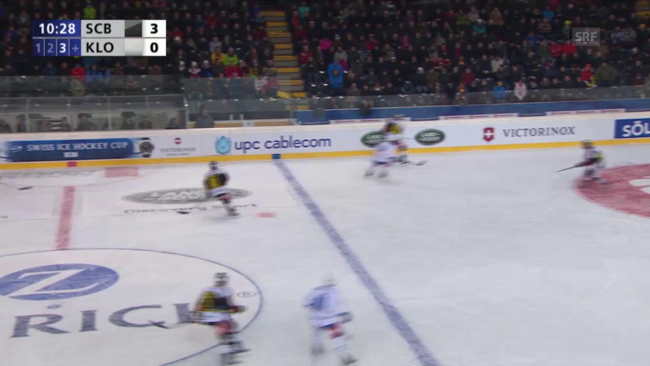 Eishockey: Cupfinal Bern - Kloten, 1:3 durch Leone