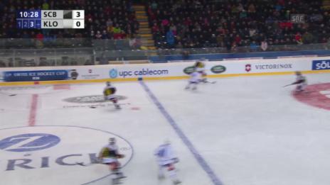 Video «Eishockey: Cupfinal Bern - Kloten, 1:3 durch Leone» abspielen