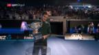 Video «Federer, Djokovic und Wawrinka in der gleichen Tableauhälfte» abspielen