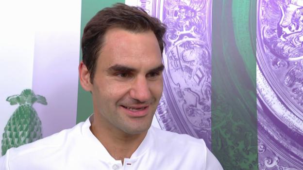 Video «Federer: «Schön, neue Gesichter zu sehen» (engl.)» abspielen