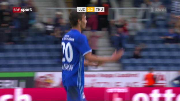 Video «Demhasaj rettet Luzern einen Punkt» abspielen